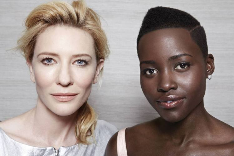 Cate Blanchett & Lupita Nyong'o photographed by Cliff Watts for Entertainment Weekly, Feb 2014